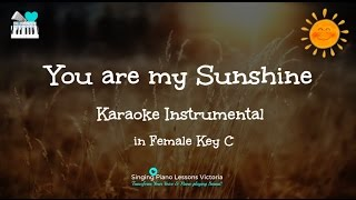You Are My Sunshine Karaoke in Female key C