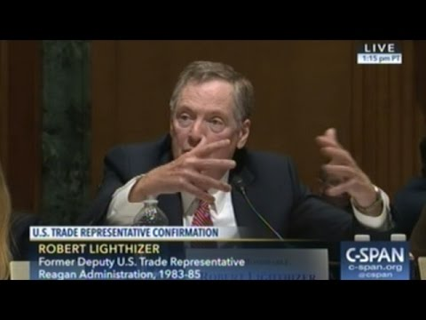 Confirmation Hearing For Robert Lighthizer To Become The Next U.S. Trade Representative