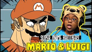 Mario & Luigi Super Anime Brothers by mashed | Animaion Reaction