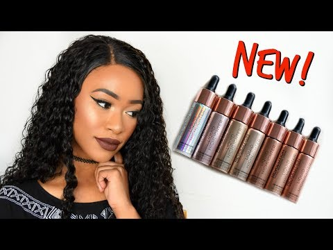 NEW LIQUID HIGHLIGHTERS! SWATCHES & DEMO