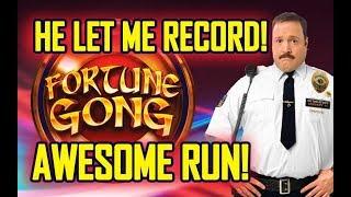 👨🏼✈️HE LET ME RECORD! 👨🏼✈️- FORTUNE GONG SLOT 🛎- AWESOME RUN!!!! - Slot Machine Bonus