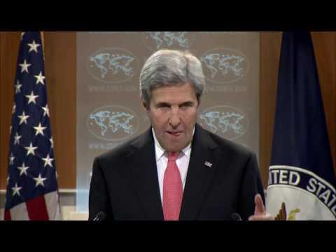 Secretary Kerry Holds A Press Availability