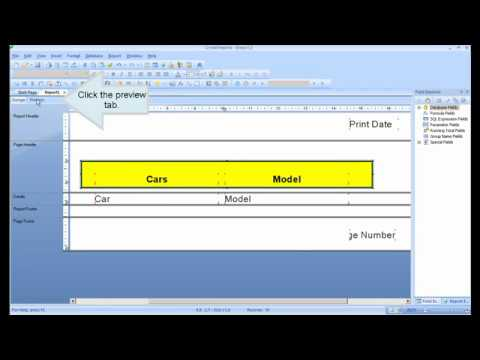 Crystal Reports Tutorial - Introduction, First Report (Lesson 1)