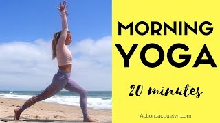 Wake up & Kick Ass Yoga Flow - Yoga for Energy, Flexibility, and Strength - 20 minutes