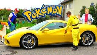 FERRARI GOLD DIGGER PRANK | Pokemon Pikachu Rich Kid
