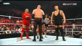 WWE Raw 28/03/11 - Kane funny moment (HQ)