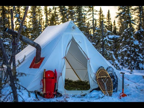 Winter Camping In CANADA | Extreme Wilderness Living In A Wall Tent