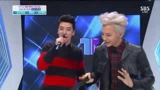 """G-dragon dancing TeenTop's """"Rocking"""" 130914"""