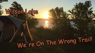 Wilson Lake, KS: Camping and Hiking Epic Loop, We're On The Wrong Trail