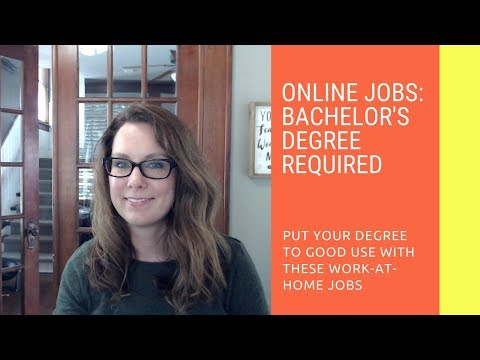 Bachelor's Degree Jobs Online: Put Your Degree to Use Working at Home
