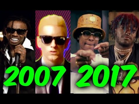 Most Popular Rap Songs of The Last 10 Years Part 2 2007 2017