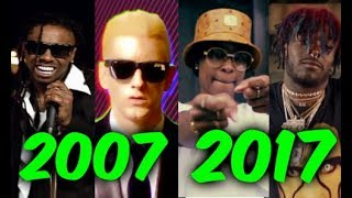 Most Popular Rap Songs of The Last 10 Years Part 2 (2007 2017)
