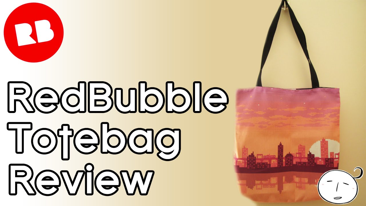 REDBUBBLE Totebag Review (Medium-size) - YouTube