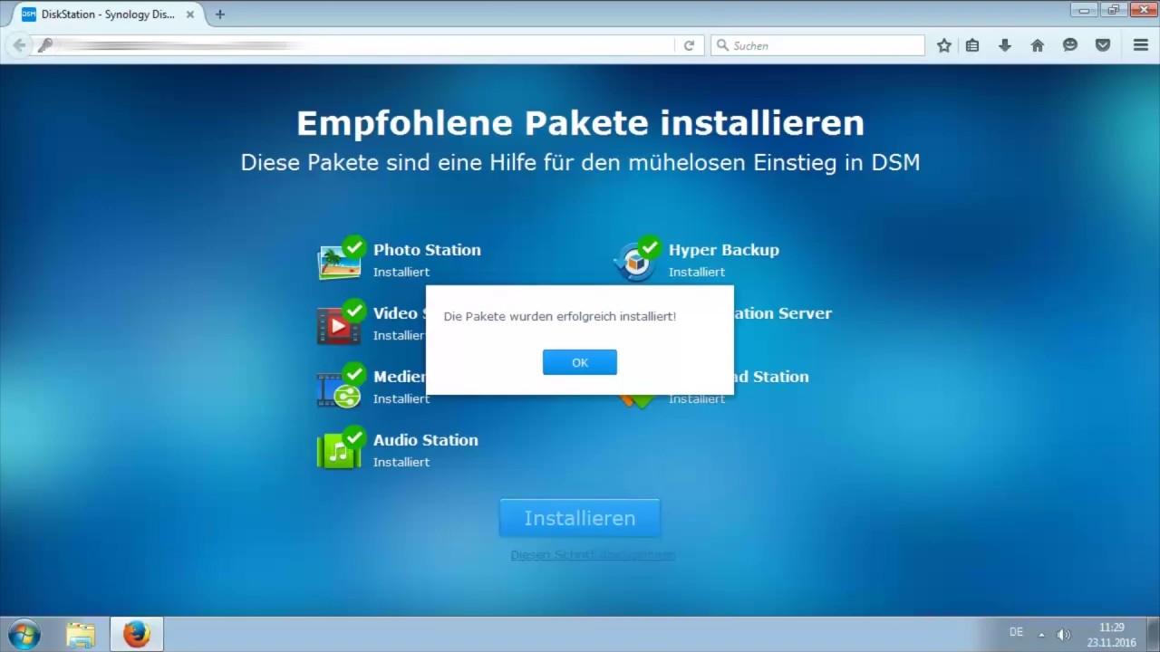 Synology Nas DS211J/DS216Play DSM Betriebsystem installieren