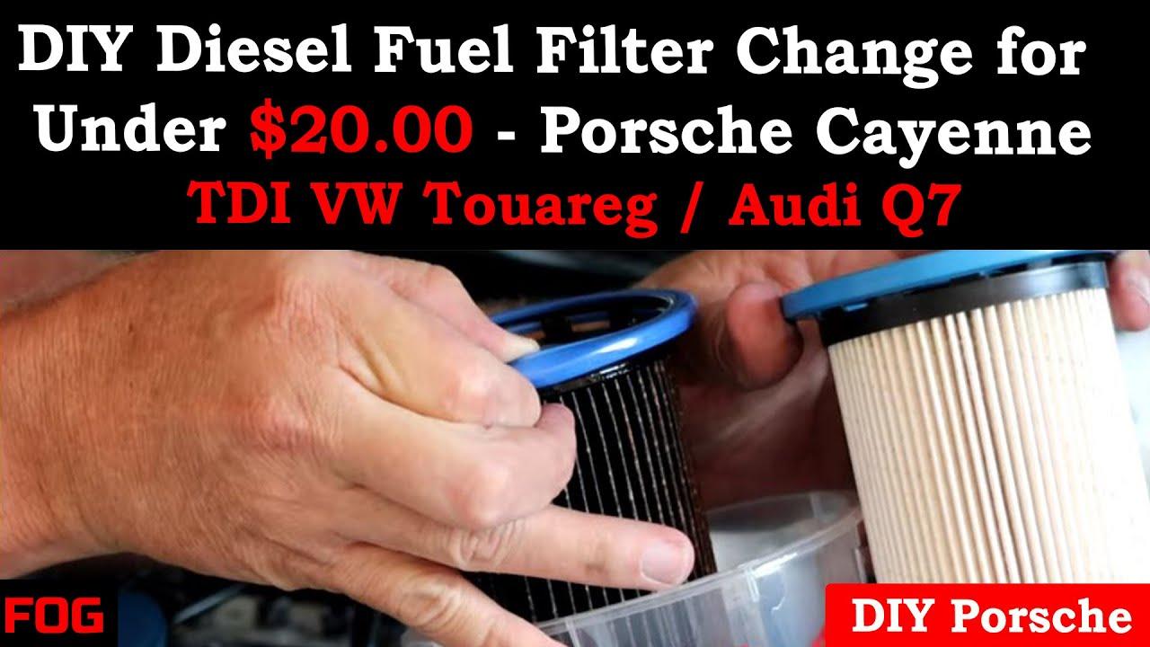 DIY Diesel Fuel Filter Change for under $20.00 - Porsche Cayenne / TDI VW  Touareg / Audi Q7 - YouTubeYouTube