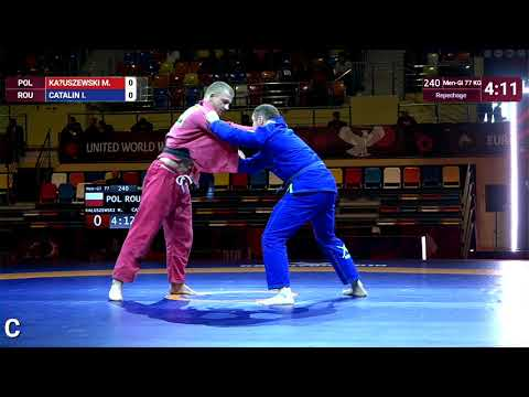 Repechage Men-Gi - 77 kg: M. KAŁUSZEWSKI (POL) v. I. CATALIN (ROU)