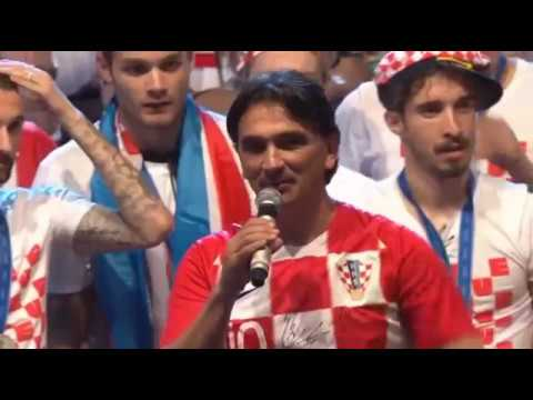 ZLATKO DALIĆ - emotivni govor na Trgu bana Josipa Jelačića u Zagrebu 16. 07. 2018.