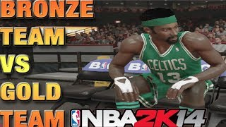 NBA 2k14 PS4 MyTEAM Challenge - All BRONZE TEAM! BRONZE vs GOLD!