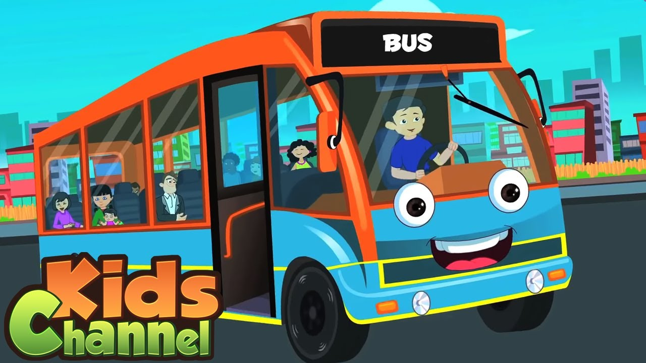 Wheels On The Bus Go ound And Round | Nursery Rhymes for Children - Kids Channel