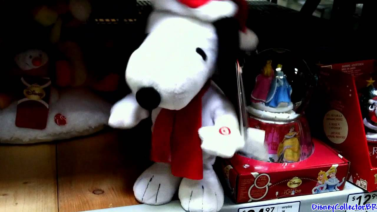 Snoopy Plush Toy Dancing Singing Christmas 2011 Youtube