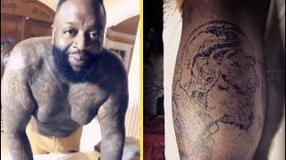 Rick Ross Gets Nipsey Hussle Face Tattoo