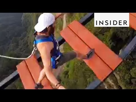 Walk Across a 500-Foot-High Bridge in China