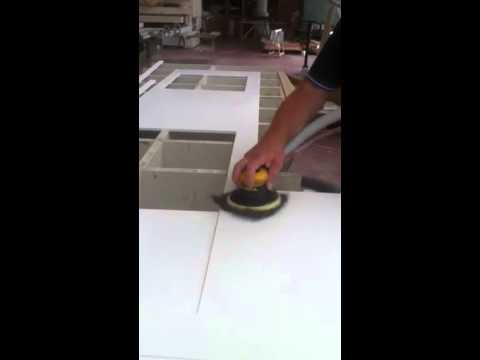 Piano cucina in corian - YouTube