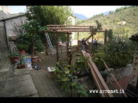 Montaggio Capanna Presepe Vivente Arrone 2013 14