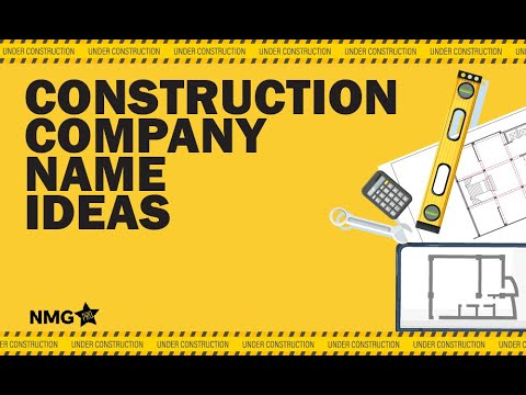 Construction Company Name Ideas  ‐ Construction Company Name Generator