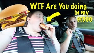 Big girl rides in 900hp GT500 for a Cheeseburger Reaction