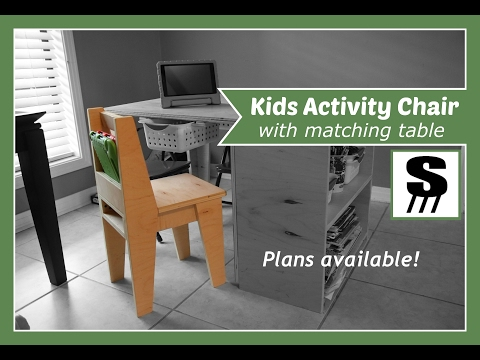 Kids Activity Chair - Matching Table