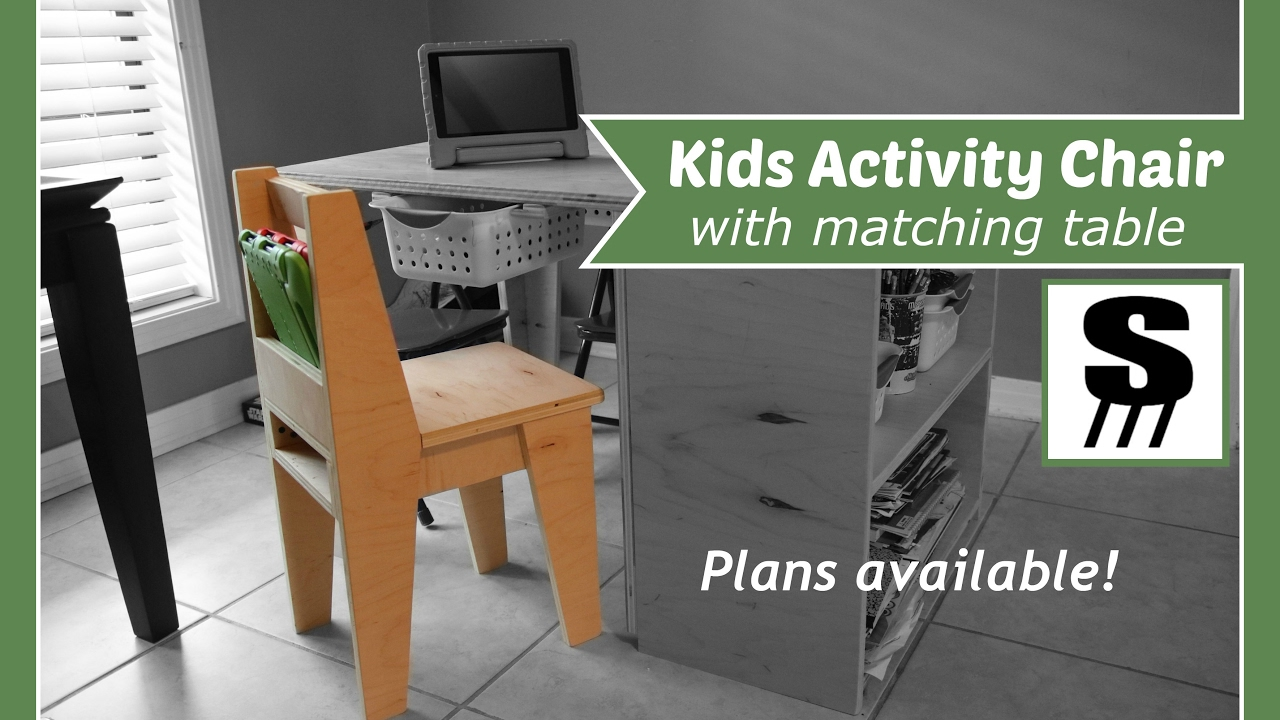 Kids Activity Chair Matching Table Youtube