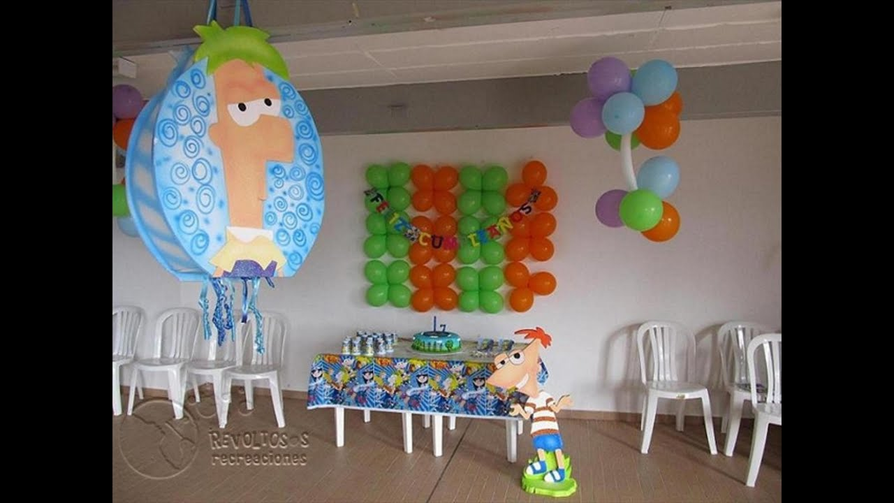 DECORACION FIESTA TEMATICA PHINEAS AND FERB