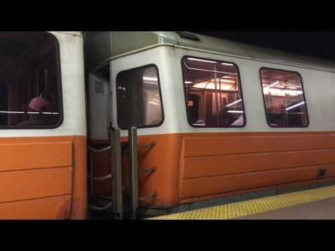 Orange Line Trains at Back Bay Station