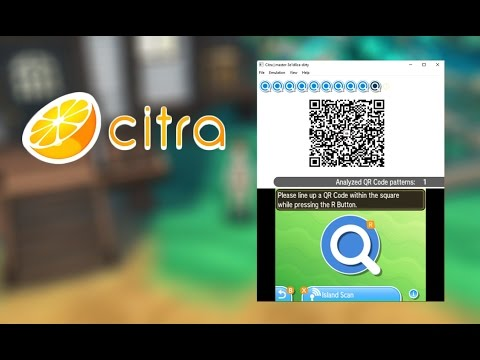 how to scan qr codes in citra pokémon sun moon island scan