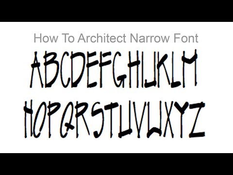 How to Write Like an Architect | Creating a Narrow Architectural Font