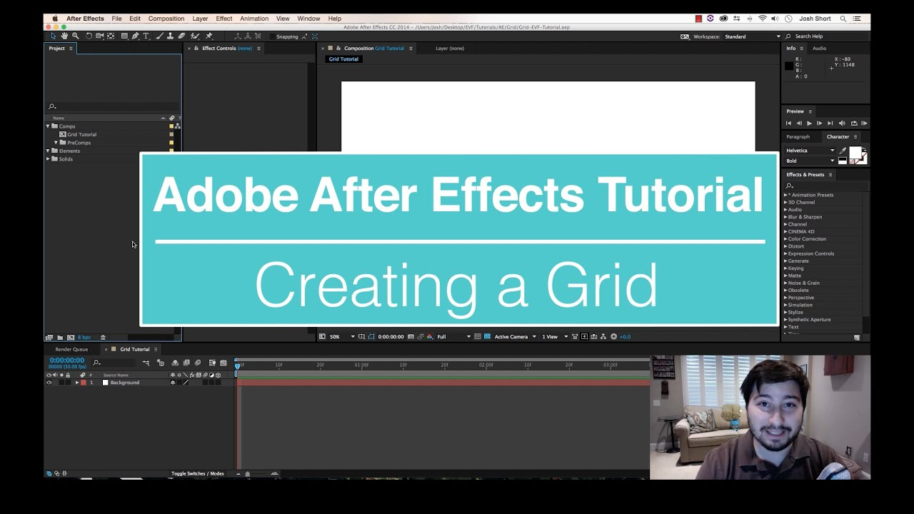 Evf Tutorial €� How To Create A Grid In After Effects