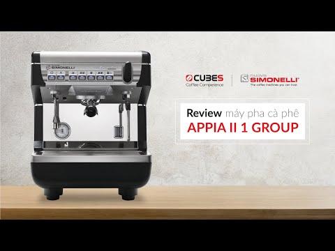Review APPIA II 1 Group - Nuova Simonelli (Italia) | Máy pha cafe cho quán vừa và nhỏ