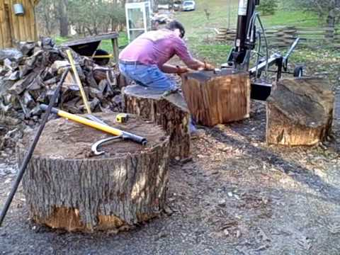 "The 36"" log vs Dirty Hand Tools 22 ton log splitter part 01"