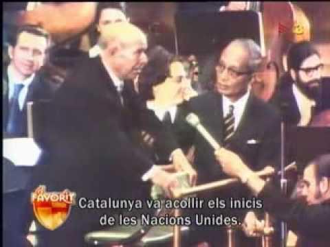 Pau Casals, the catalan courier