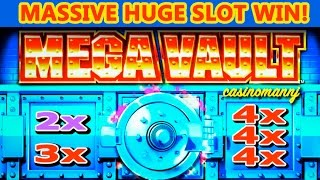 **MASSIVE WIN** - MEGA VAULT SLOT - 2X-3X-4X-4X-4X - MEGA SLOT WIN - Slot Machine Bonus