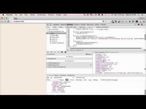 Intro to the HTML5 Audio Element