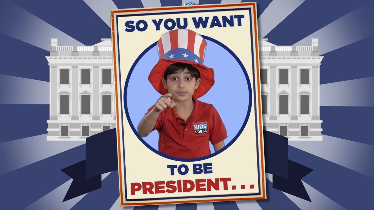 So You Want To Be President Kid Reporter Siroos Pasdar For Scholastic News Youtube
