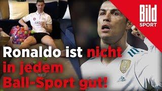 Cristiano Ronaldo muss das Ballwerfen nochmal üben – Mit dem Fußball läuft es eindeutig besser