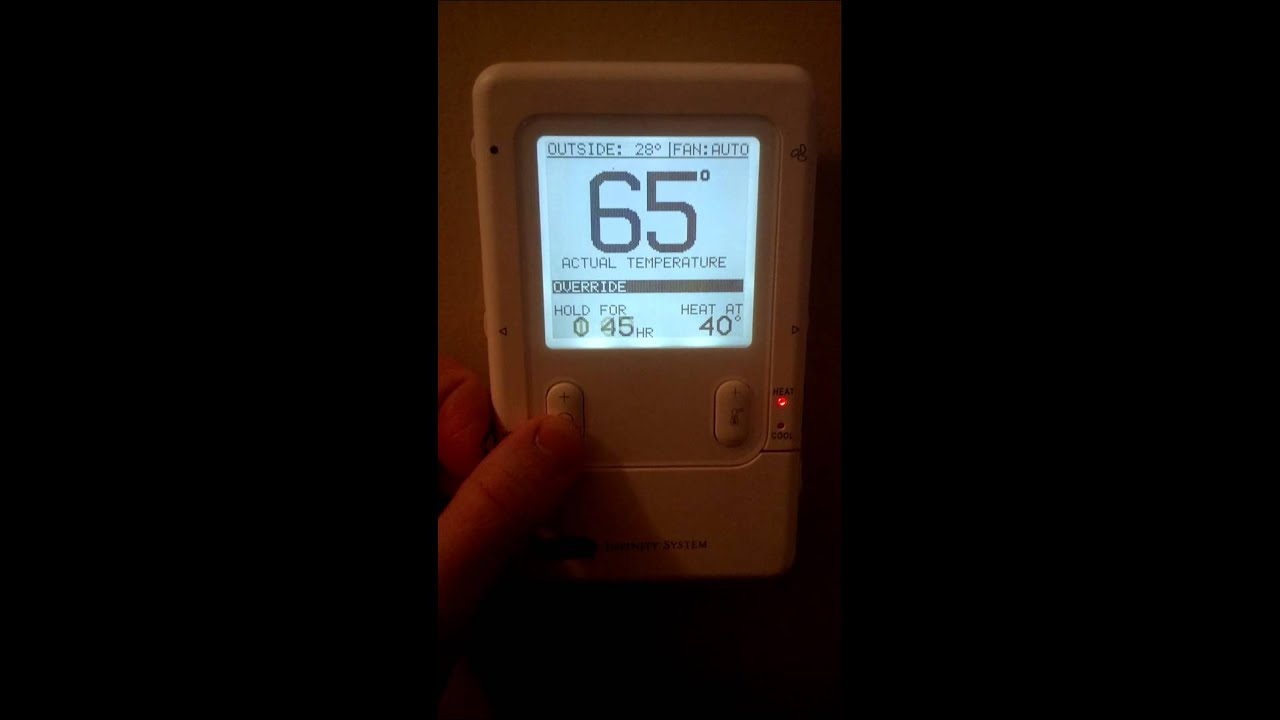 Carrier Infinity Series thermostat problem