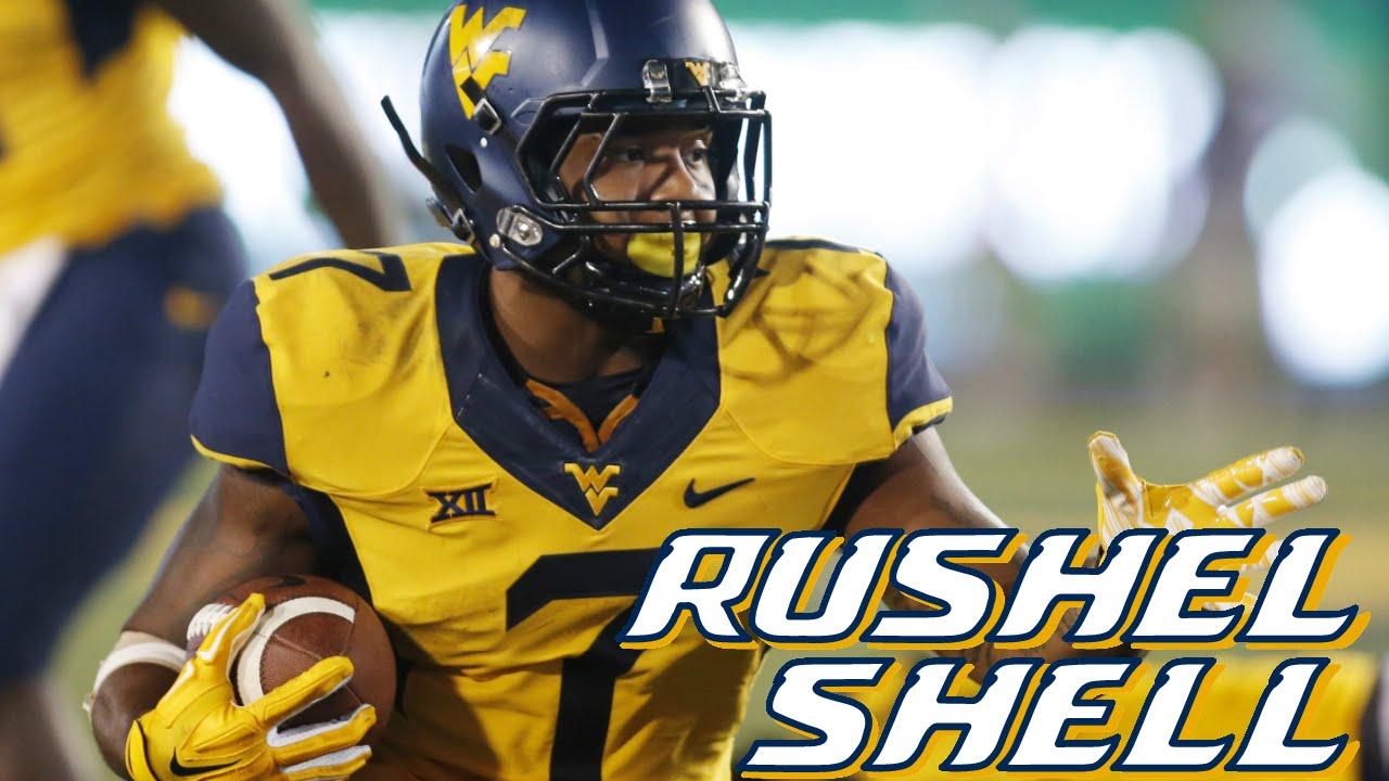 Resultado de imagen para Rushel Shell - RB - West Virginia University