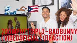 200 MPH FT Diplo - Bad Bunny   (reaction)