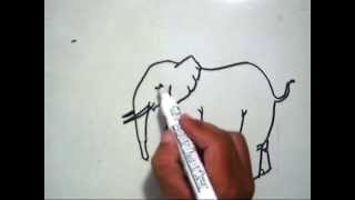 How to Draw An Elephant (Cara Menggambar Gajah)