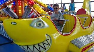 Buğra Oyun Alanındaki Uçan Köpek Balığına Bindi Çok Eğlendik