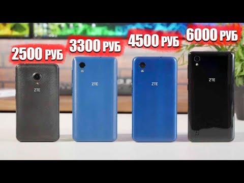 4 Бюджетных смартфона от 2500 руб до 6000 руб от ZTE